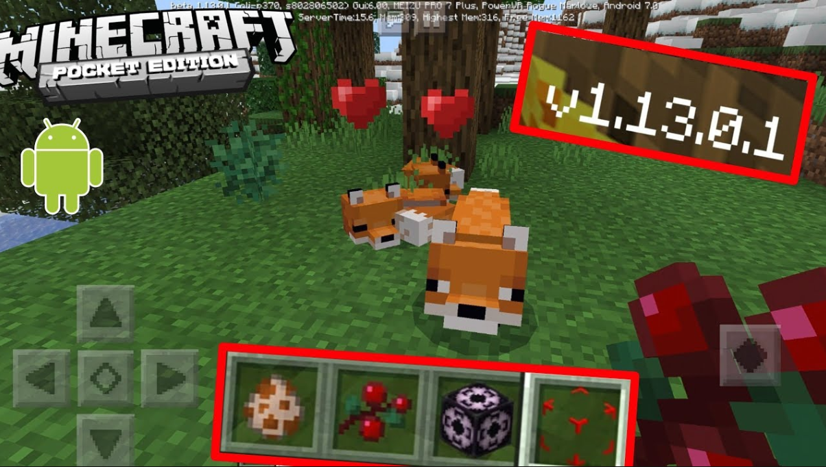 Minecraft PE Android 1.13.0 Манкрафт на Андроид 1.13.0